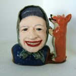 Paul Rayner, Queen Toby jug, 2014, ceramic. Private Collection.