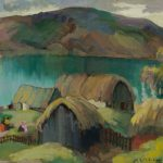 Edith Collier (New Zealand, b.1885, d.1964), Maketu Pa, Kawhia, circa 1927, oil on canvas. Collection of The Edith Collier Trust. On long term loan to the Sarjeant Gallery Te Whare o Rehua Whanganui. 1/29.