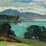 Edith Collier (New Zealand, b.1885, d.1964), Still Waters, Kawhia Harbour, 1927-1928, oil on canvas. Collection of The Edith Collier Trust. On long term loan to the Sarjeant Gallery Te Whare o Rehua Whanganui. 1/28. This work was conserved with the generous support of Raewyne Johnson in 2004.