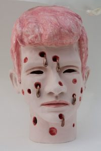 Andrea du Chatenier, Pink Haired Boy, 2014, ceramic. Courtesy of the artist.