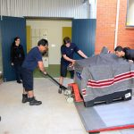 One of the many collection move's done with the help of Crown's specialised moving team.