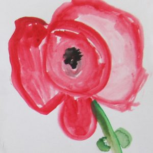 Anzac Poppies - watercolour