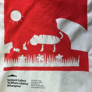 Screen-print tote bag, St Johns School, 2016