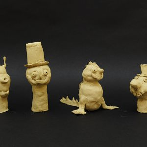 Student clay works